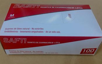 GĂNG KIỂM TRA LATEX SAFTI cỡ M (SAFTI GUANTES DE EXAMINACIÓN DE LÁTEX talla M)