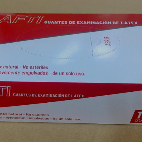 SAFTI GUANTES DE EXAMINACIÓN DE LÁTEX talla S (GĂNG KIỂM TRA LATEX SAFTI cỡ S)