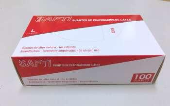 SAFTI GUANTES DE EXAMINACIÓN DE LÁTEX talla L (GĂNG KIỂM TRA LATEX SAFTI cỡ L)